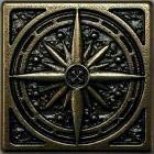 Classic Compass, 5x5 cm