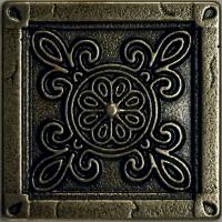 Mosazná dekorace Classic Camomile, 5x5 cm