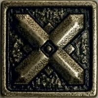 Mosazná dekorace Classic Dagger, 3x3 cm