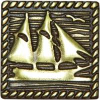 Bronzová dekorace Classic Frigate, 5x5 cm
