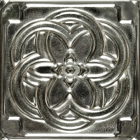 Niklová dekorace Nickel Kaleidoscope, 7,5x7,5 cm