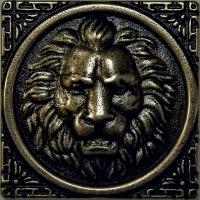 Mosazná dekorace Classic Leo, 5x5 cm