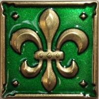 Bronzová dekorace Enameled Lily 1698, 5x5 cm