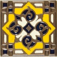 Bronzová dekorace Enameled Orient 1634, 7,5x7,5 cm