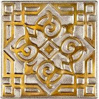 Niklová dekorace Zircon Orient, 5x5 cm