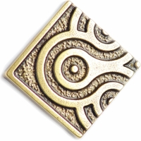 Bronzová dekorace Planet Corner element, 5x5 cm