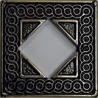 Mosazná dekorace Classic Ventana, 7,5x7,5 cm