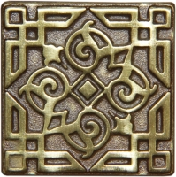 Bronzová dekorace Classic Orient, 7,5x7,5 cm