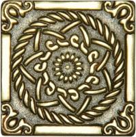 Bronzová dekorace Classic Sun, 5x5 cm