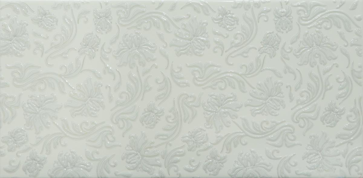 GlazurKer Keramický obklad GlazurKer Décor Flowers Light, 20x40 cm